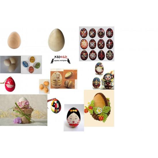 Яйце дерев яне, H:6см