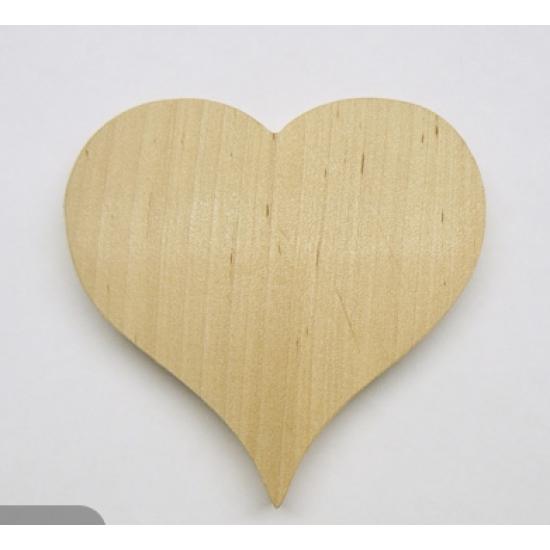 0803-Серце, фанера 10 мм, 13*13 см