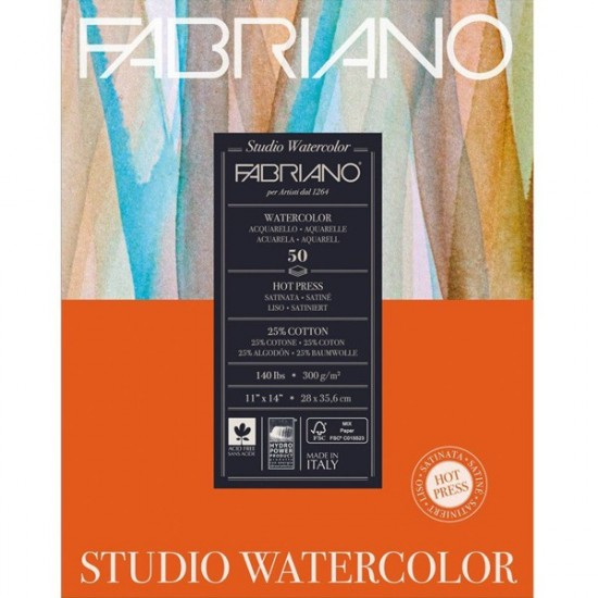 Fabriano Альбом для акварелі Studio 28х35,6 см 300 г/м.кв. 50 аркушів