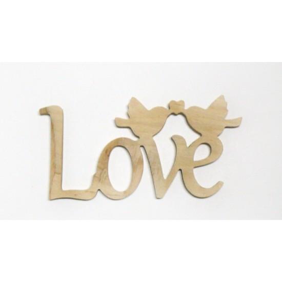 """0951-Слово """"Love"""", фанера 10мм, 24*12"""