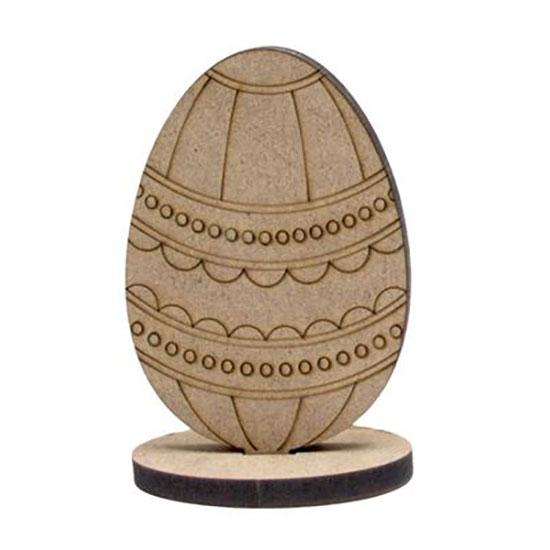 Заготовка Яйце 7, на підставці, МДФ, 8,5х6х0,6см, ROSA Talent