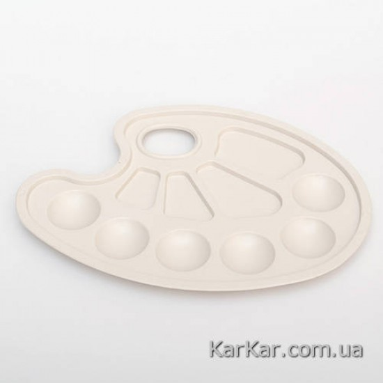 Палітра №3 овальна з 10 лунками маленька пластикова 17,5х23 см Україна