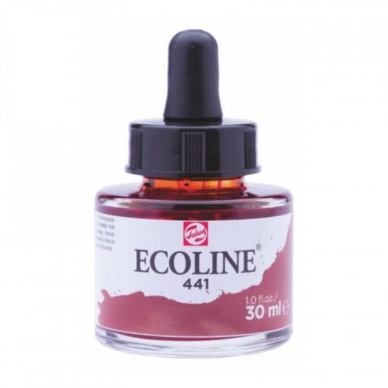 441 Фарба акварельна рідка з піпеткою Ecoline, Коричнево-червона, 30 мл, Royal Talens