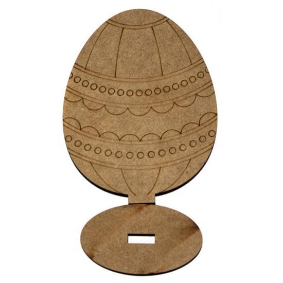 """Заготовка """"Яйце"""" 7, на підставці, МДФ, 14х10,5х0,6см, ROSA TALENT"""