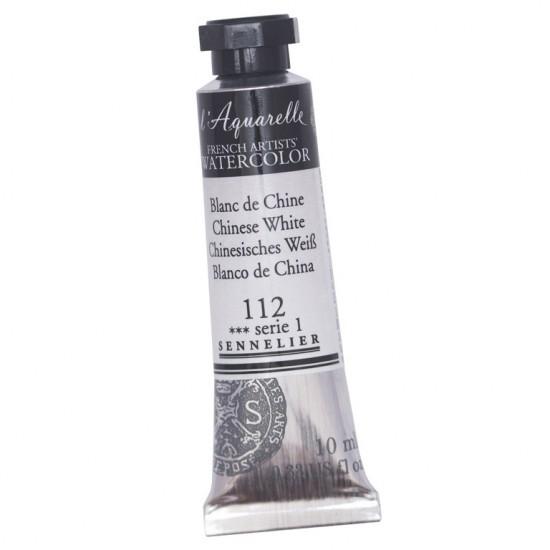 112 Фарба акварельна l Aquarelle, S1 - Chinese White, 10 мл, Sennelier