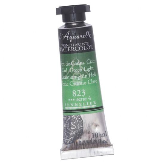 823 Фарба акварельна  l Aquarelle,  S4 -  Cadmium Green Light , 10ml, Sennelier