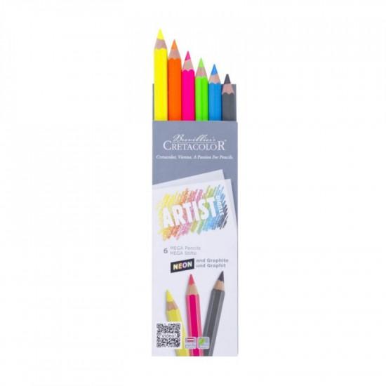 Набір графітних олівців Artist Studio Line, 6шт., карт. коробка, Cretacolor