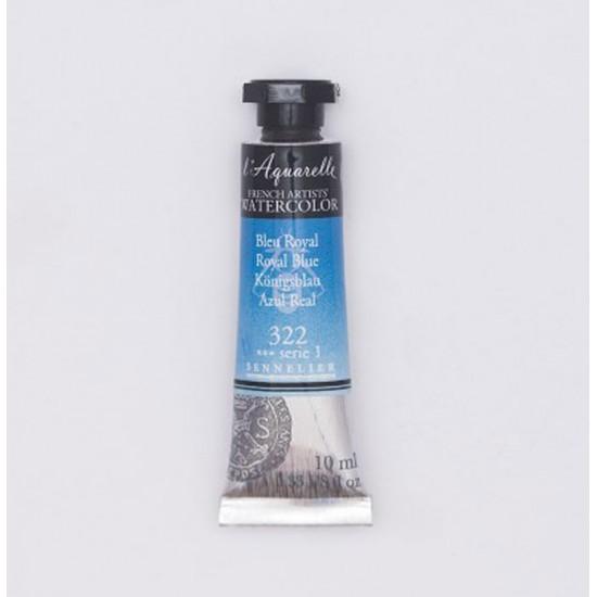 322 Фарба акварельна  l Aquarelle,  S1 - Королевская синяя (Royal Blue), 10ml, Sennelier