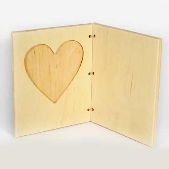 Рамочка для фото-валентинка горизонтальная фото 10*10см.