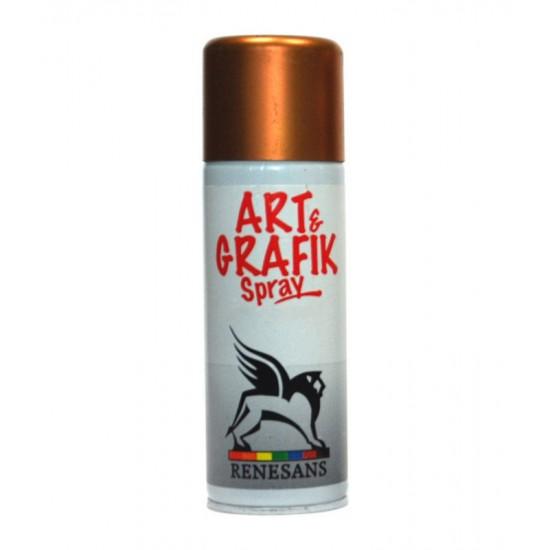 ART & GRAFIK АКРИЛ В АЭРОЗОЛЕ 200 МЛ 3 МЕТАЛЛИК ЗОЛОТО ДУКАТОВОЕ