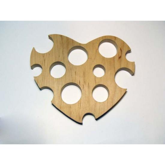 0078-Серце  дерево вільха 10мм 13*10см