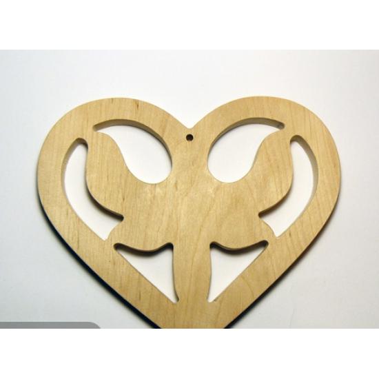 0075-Серце дерево вільха 10мм 13*11см