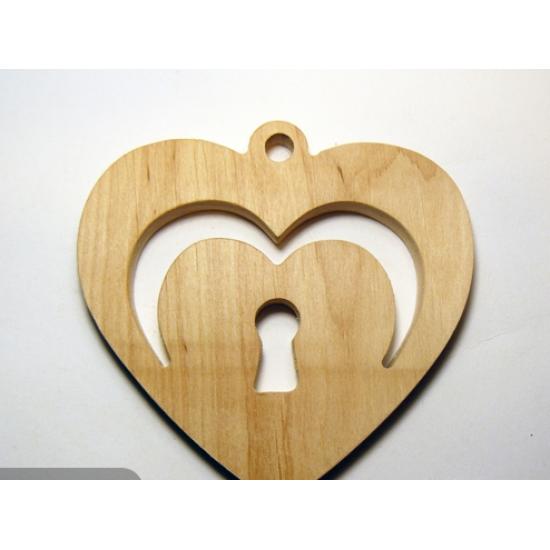 0074-Серце, вільха 10мм, 10*10см