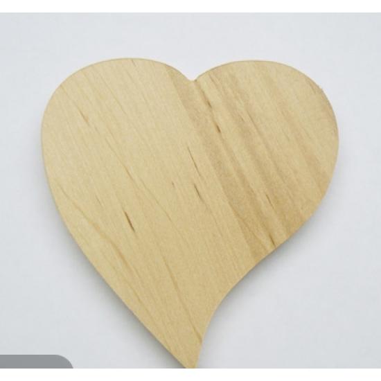 0057-Серце, ДВП 5мм, 6*6см