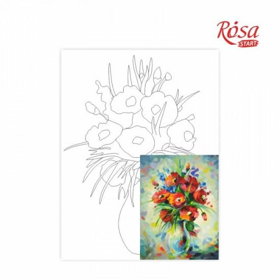 Полотно на картоні з контуром, Натюрморт №20, 30*40, бавовна, акрил, ROSA Talent