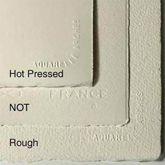 Arches папір акварельний 2 в 1  Arches Cold Pressed/Hot Pressed 220 гр, 50x64 см