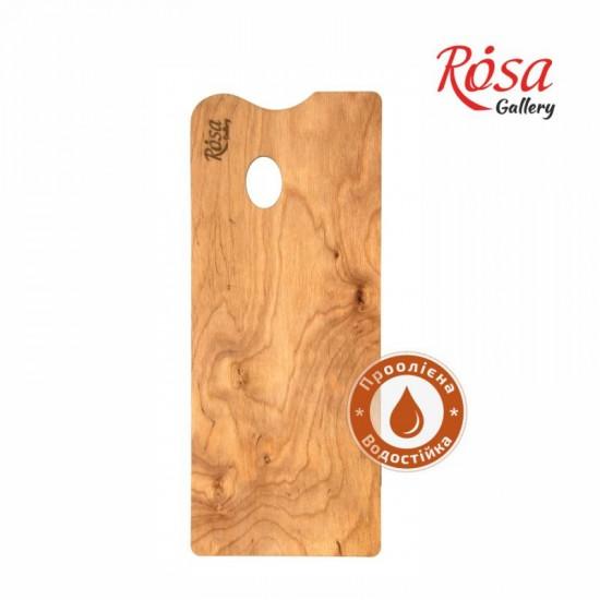 Палітра дерев яна, під етюдники французького типу, прямокутна, промаслена, 45,0х18,5 см, ROSA Galler