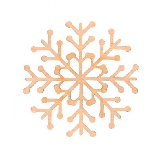 "Заготовка ""Сніжинка"" 1, фанера, Д:10см, 4шт, ROSA TALENT"
