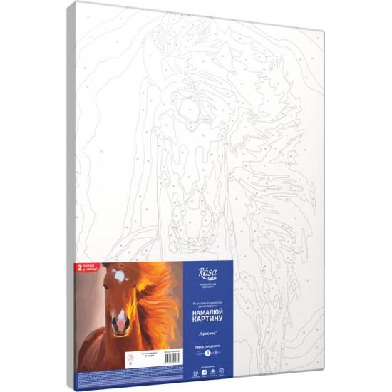 "Набір-стандарт, картина за номерами, ""Красень"", 35х45см, ROSA START"