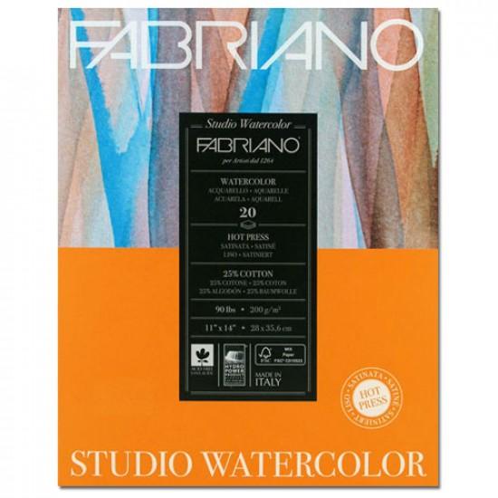 Fabriano Альбом для акварелі Studio 20,3х25,4 см 200 г/м.кв. 20 аркушів