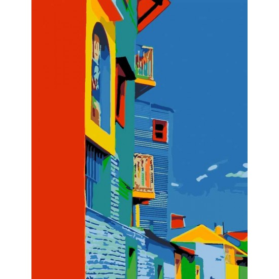 """Набір-стандарт, картина за номерами, """"Пейзаж 5.27"""", 35х45см, ROSA START"""