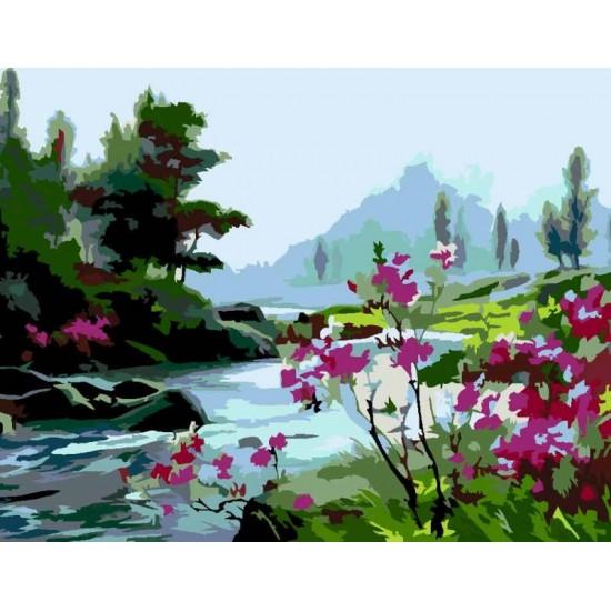 """Набір-стандарт, картина за номерами, """"Пейзаж 5.92"""", 35х45см, ROSA START"""