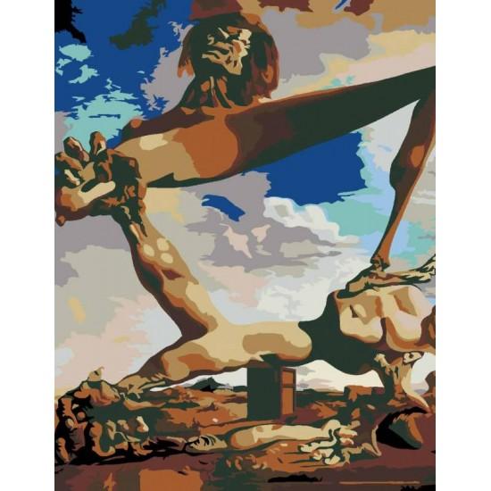 """Набір-стандарт, картина за номерами, """"Шедеври світового мистецтва 8.59"""", 35х45см, ROSA START"""