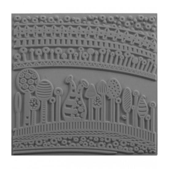 """Молд для тиснення скульптурних мас """"Гармонія"""" 90х90мм"""