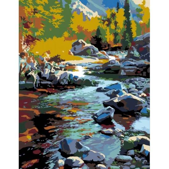 "Набір-стандарт, картина за номерами, ""Річка у горах"", 35х45см, ROSA START"