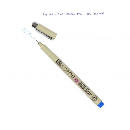 Лінер PIGMA Micron (0.05), 0,2мм, Синій, Sakura