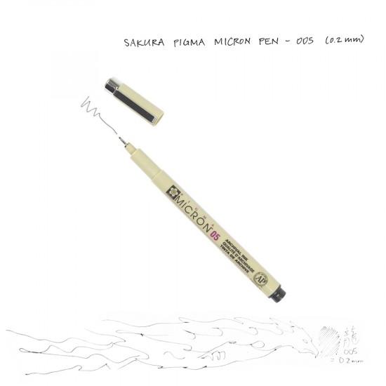 Лінер PIGMA Micron (0.05), 0,2мм, Чорний, Sakura
