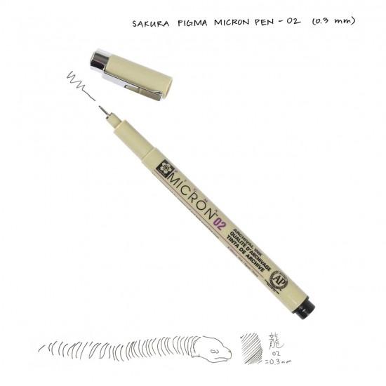 Лінер PIGMA Micron (0.2), 0,3мм, Чорний, Sakura