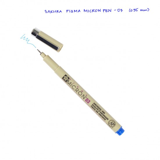 Лінер PIGMA Micron (0.3), 0,35мм, Синій, Sakura