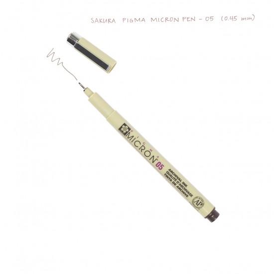 Лінер PIGMA Micron (0.5), 0,45мм, Сепія, Sakura