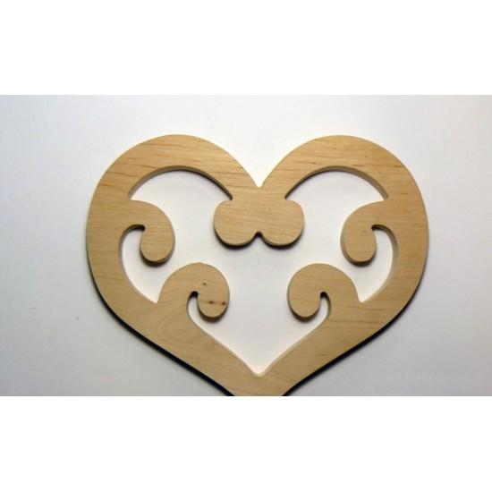 0083-Серце, вільха 10мм, 13*11см