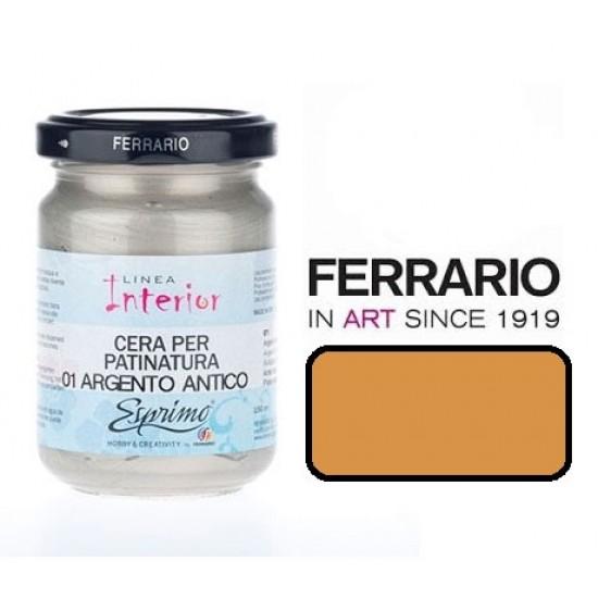 Ferrario водорозчинний віск для патинування, # 010 (Oro chiaro), Світле золото