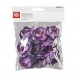 Набір пластикових квітів для декору, Лілові, 4 см, 9 шт,  KnorrPrandell | karkar.com.ua - магазин для художников